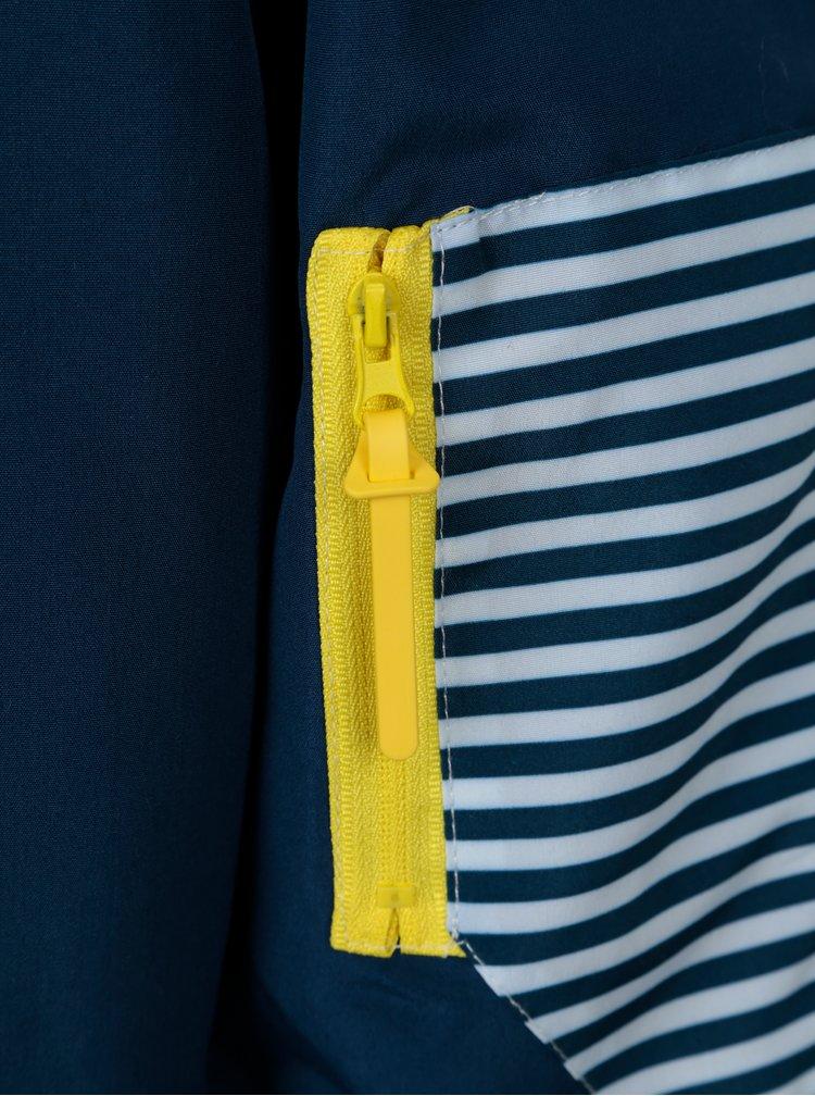 Tmavě modrá klučičí pruhovaná nepromokavá bunda 5.10.15.