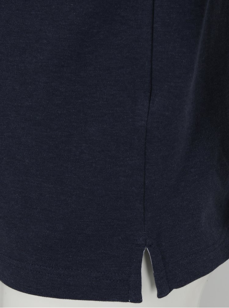 Tmavě modré polo tričko Hackett London Seersucker