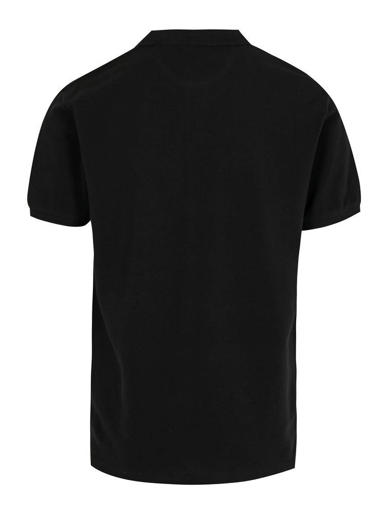 Černé polo tričko s logem Hackett London Classic