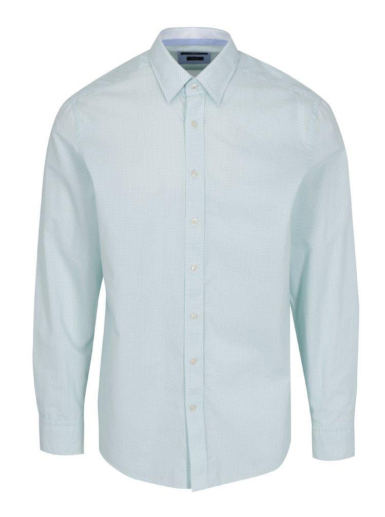 Zeleno-bílá vzorovaná košile Hackett London Dotty
