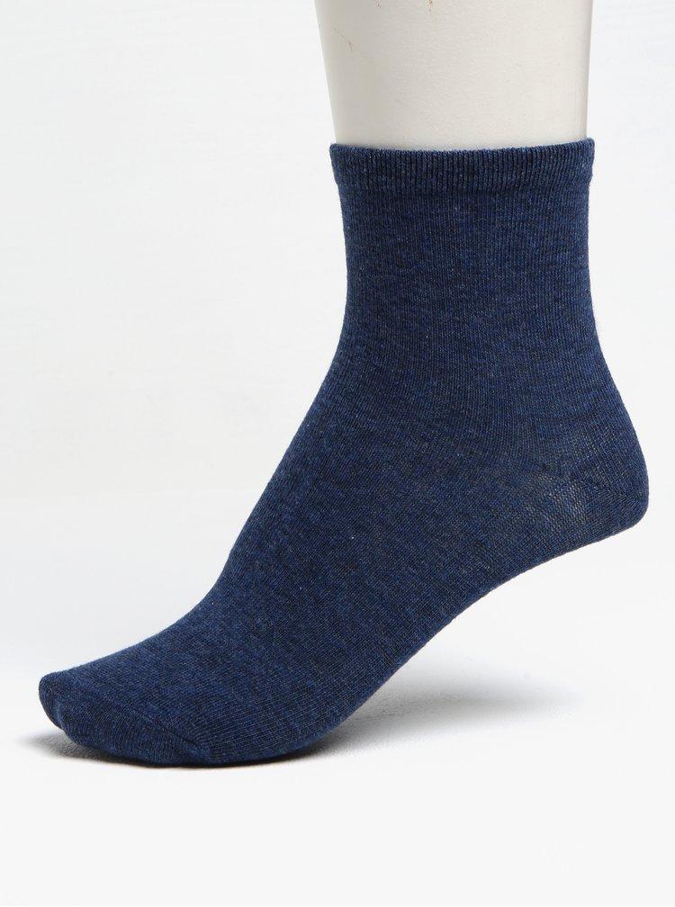 Sada tří párů holčičích ponožek v bílé a modré barvě 5.10.15.