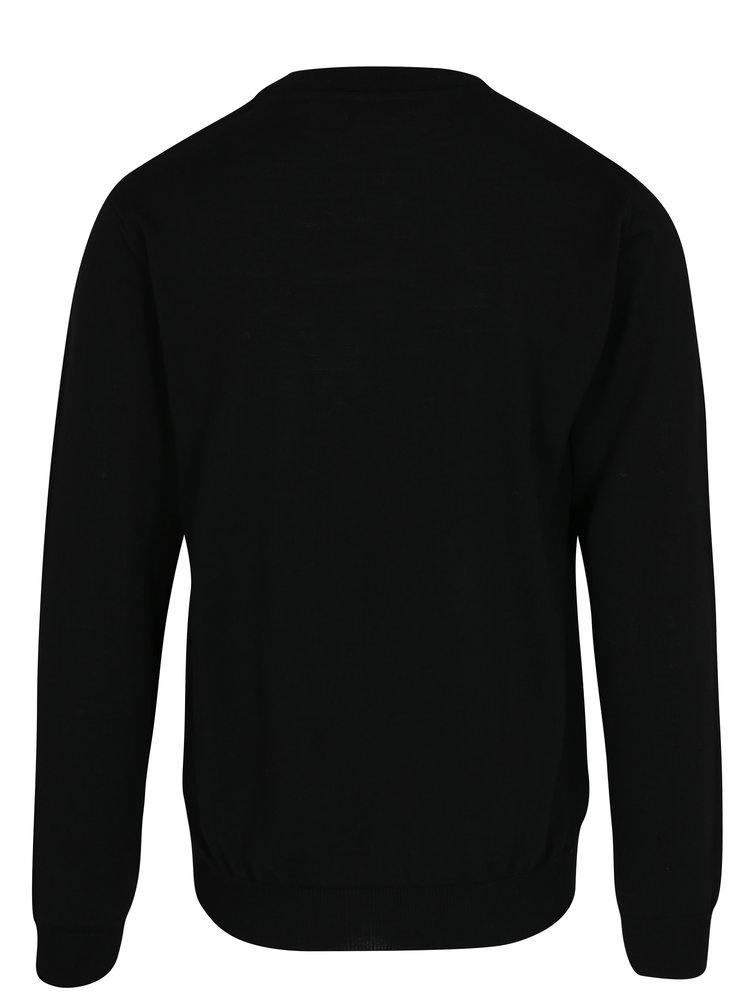 Pulover negru din lana merino - Makia Merino