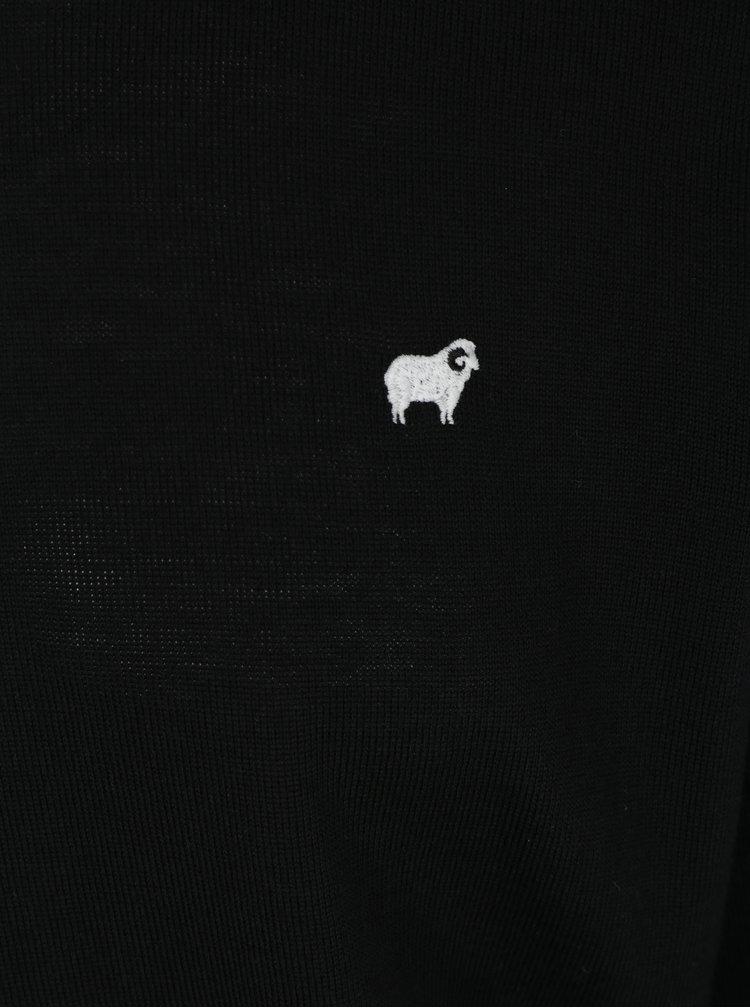 Černý pánský lehký svetr z merino vlny Makia Merino