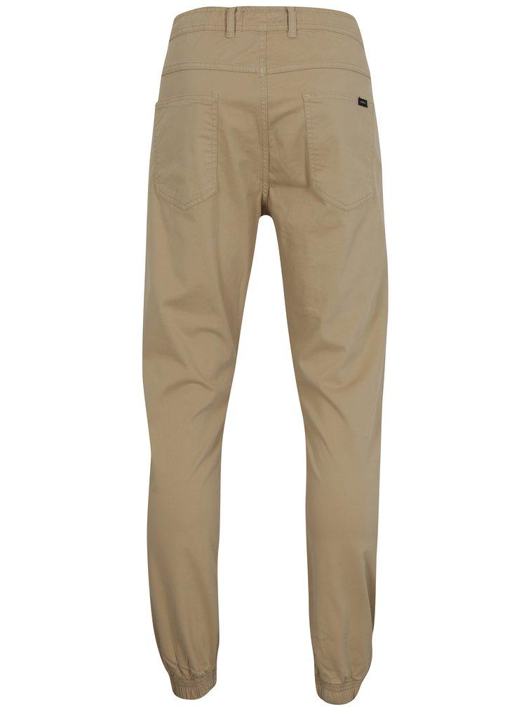 Béžové pánské tapered fit kalhoty Makia Nautical