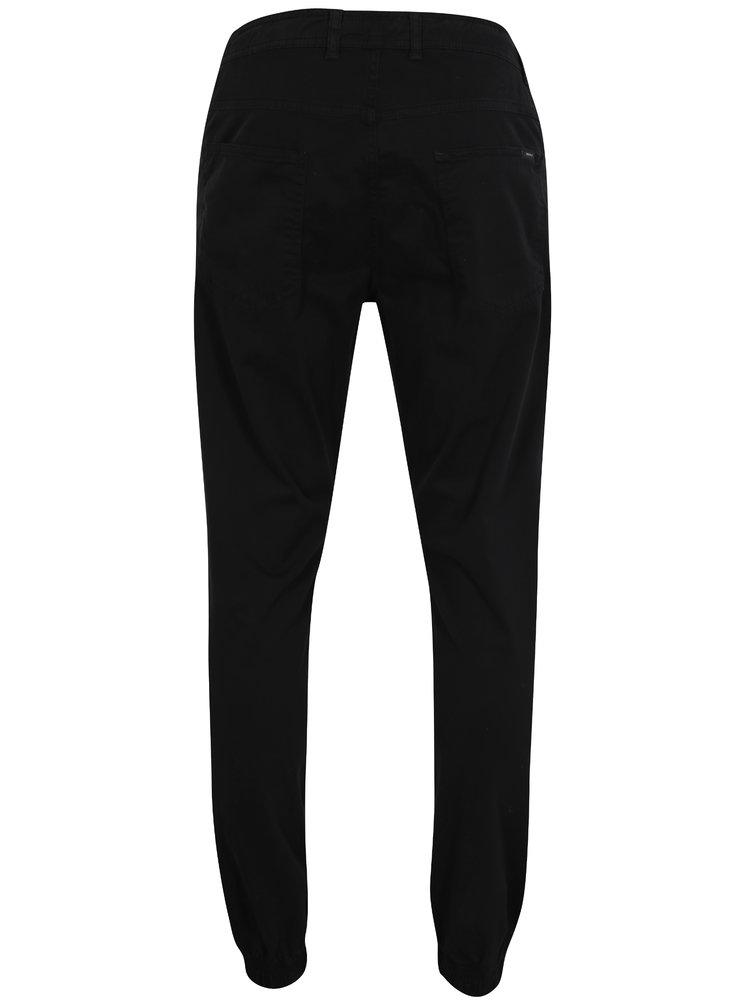 Černé pánské tapered fit kalhoty Makia Nautical
