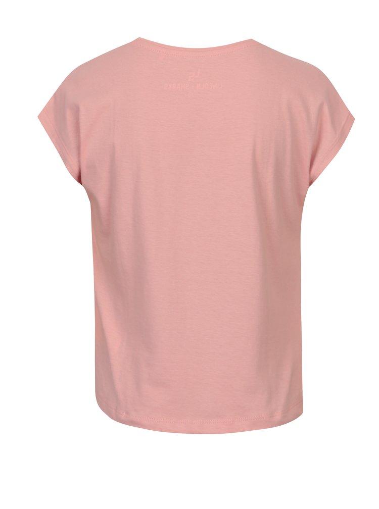Růžové holčičí tričko s potiskem srdce 5.10.15.
