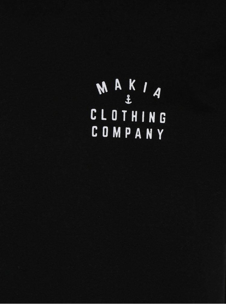 Černé pánské tričko s potiskem Makia Crane