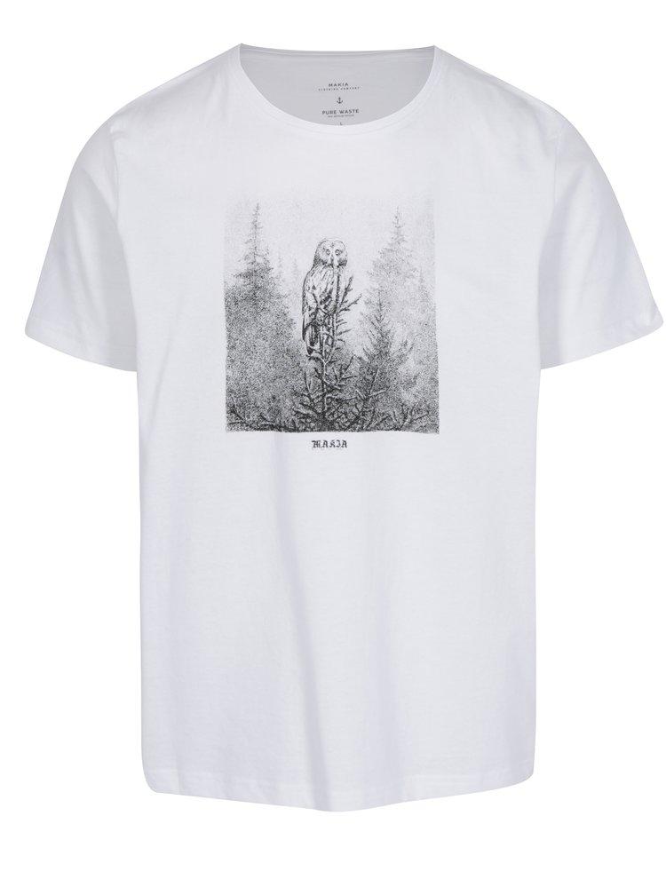 Bílé pánské tričko s potiskem Makia Ugle
