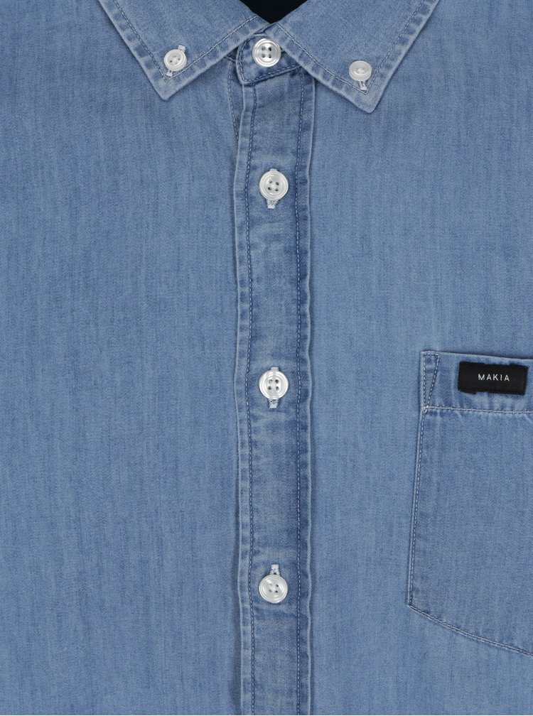 Modrá pánská žíhaná slim fit košile Makia Archipelago