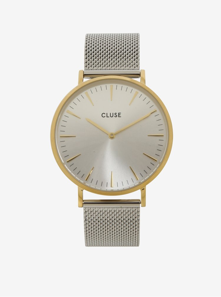 Dámské hodinky ve zlaté a stříbrné barvě CLUSE