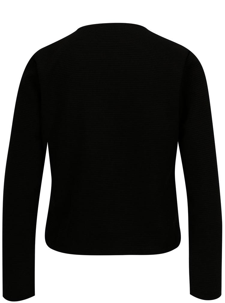 Černý žebrovaný kardigan Haily´s Luxy