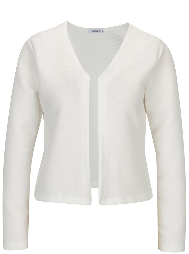 Cardigan cropped crem cu dungi in relief -  Haily´s Luxy