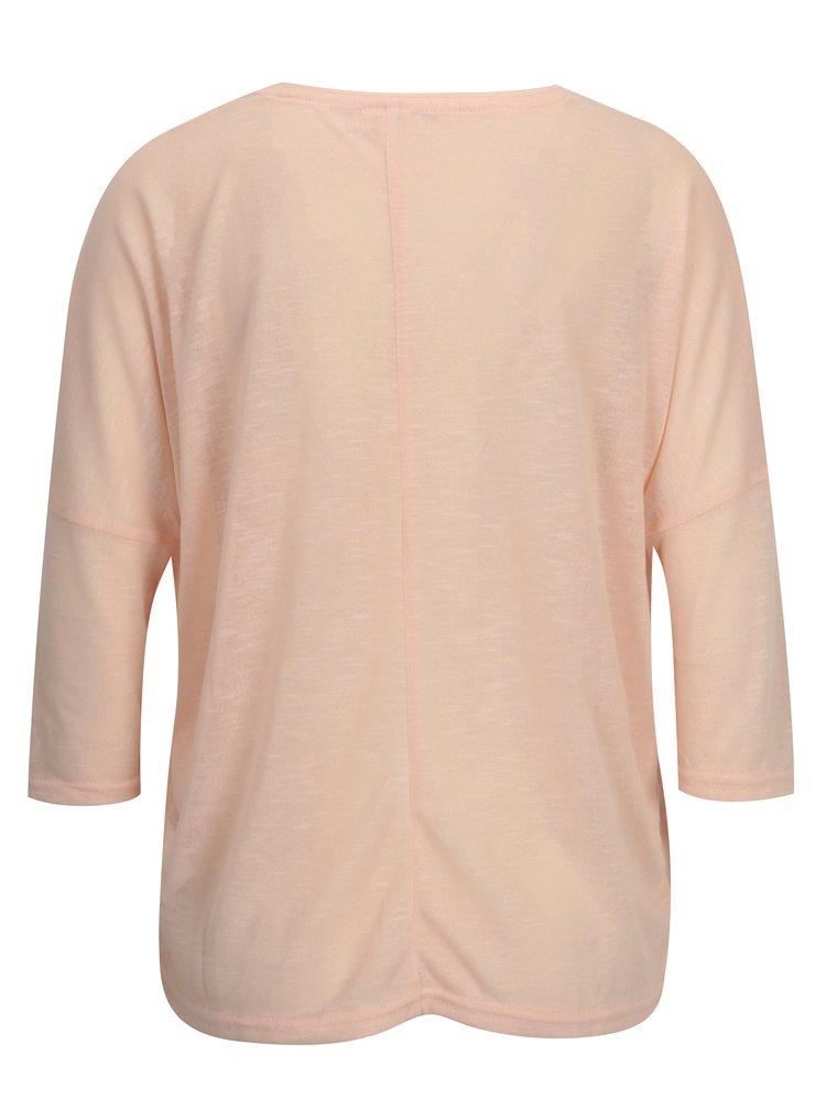 Meruňkový průsvitný top Haily´s Laureen