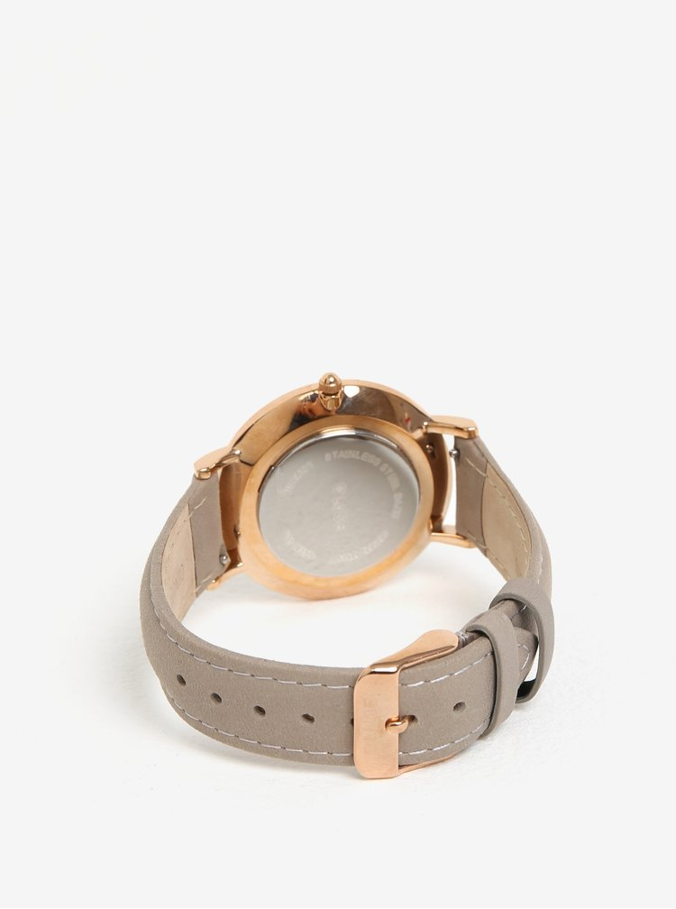 Ceas auriu cu 2 curele din piele naturala pentru femei - CLUSE