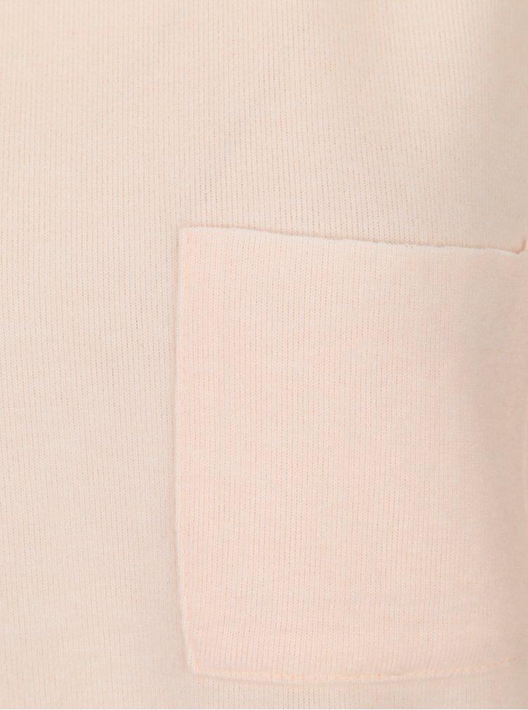 Světle růžová lehká basic mikina s 3/4 rukávem Haily´s Lena