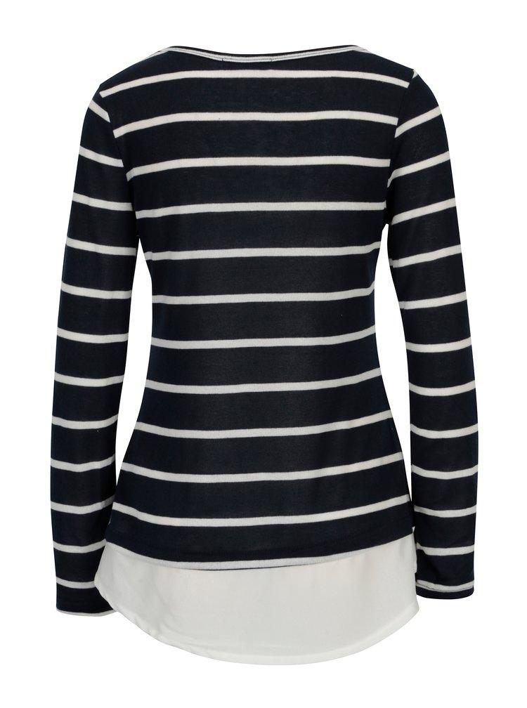 Tmavě modrý pruhovaný svetr Haily´s Malon