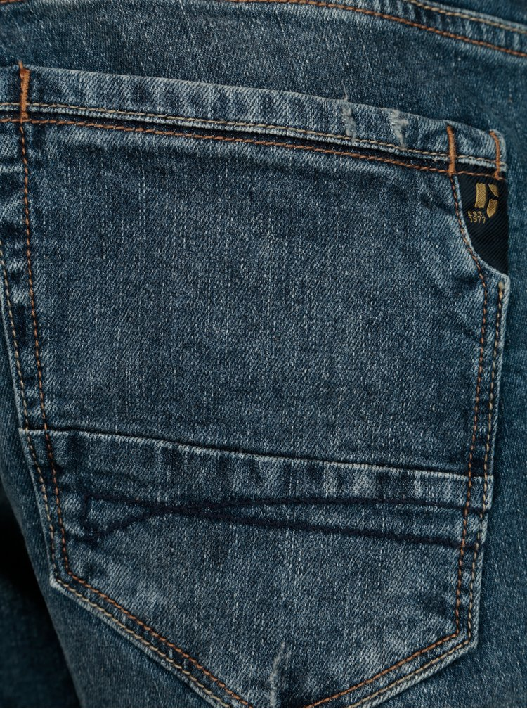 Modré pánské slim fit džíny Garcia Jeans Savio