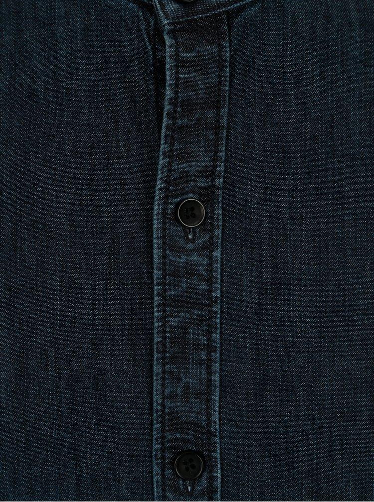 Tmavě modrá pánská džínová košile Garcia Jeans