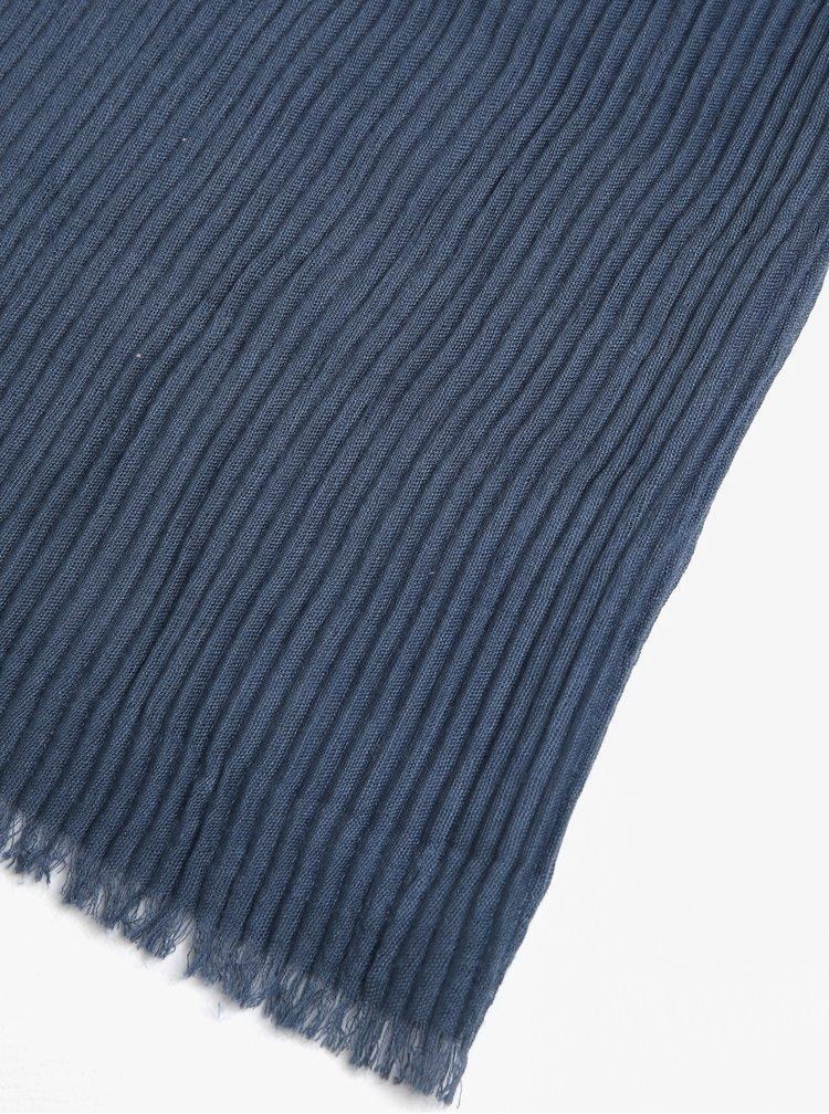Modrá plisovaná šála Pieces Nabia