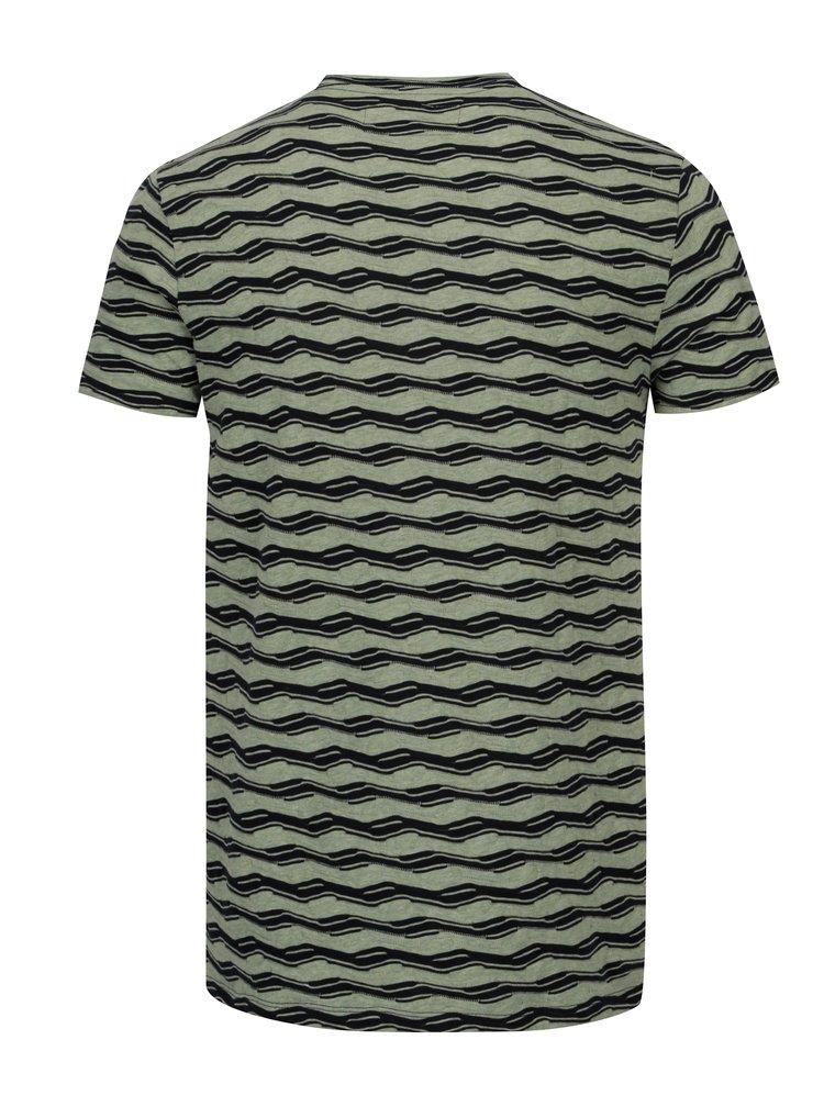 Tricou verde deschis cu forme geometrice pentru barbati - Garcia Jeans