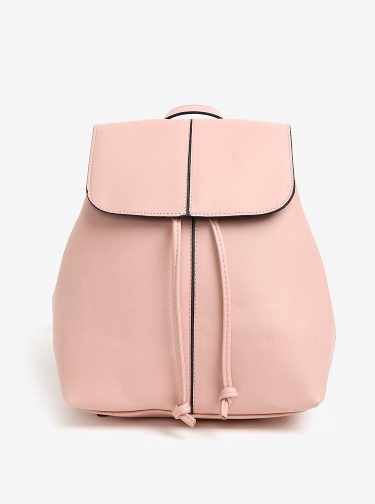Růžový koženkový batoh Pieces Minna