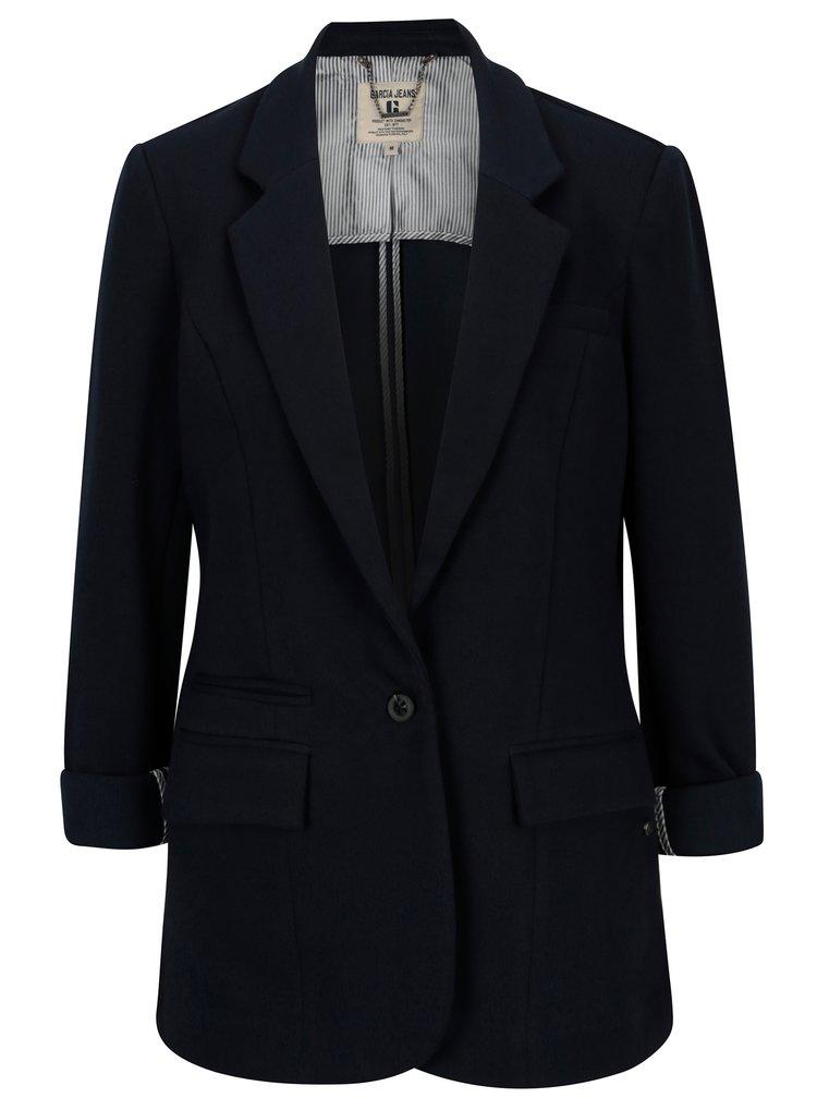 Tmavě modré dámské sako s kapsami Garcia Jeans