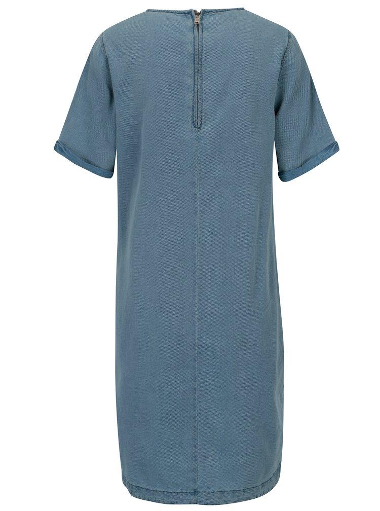 Modré dámské šaty s kapsami Garcia Jeans