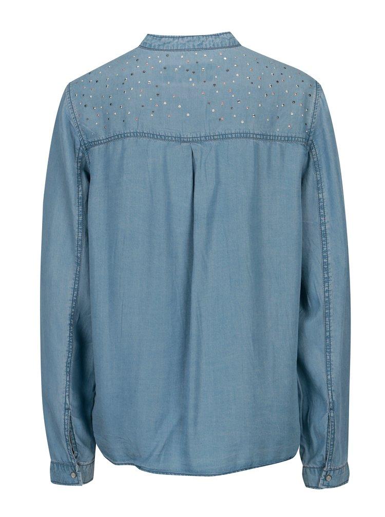 Modrá dámská košile s aplikací Garcia Jeans