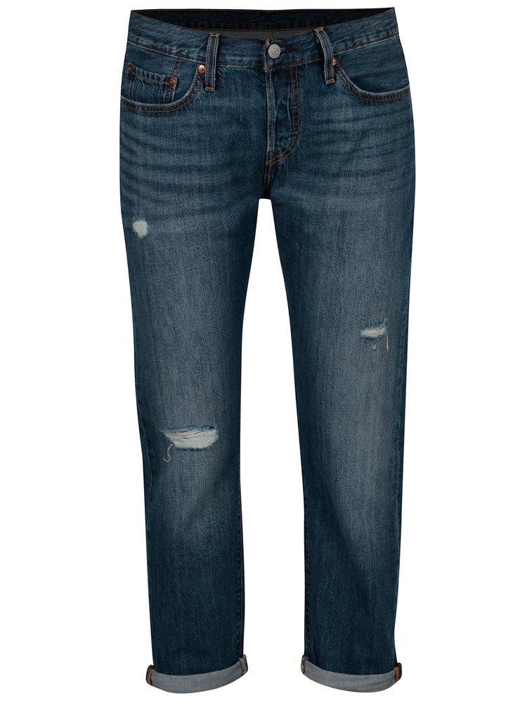 Modré dámské zkrácené tapered džíny Levi's®