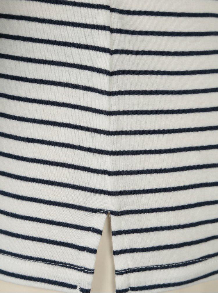 Modro-bílé dámské pruhované tričko Garcia Jeans