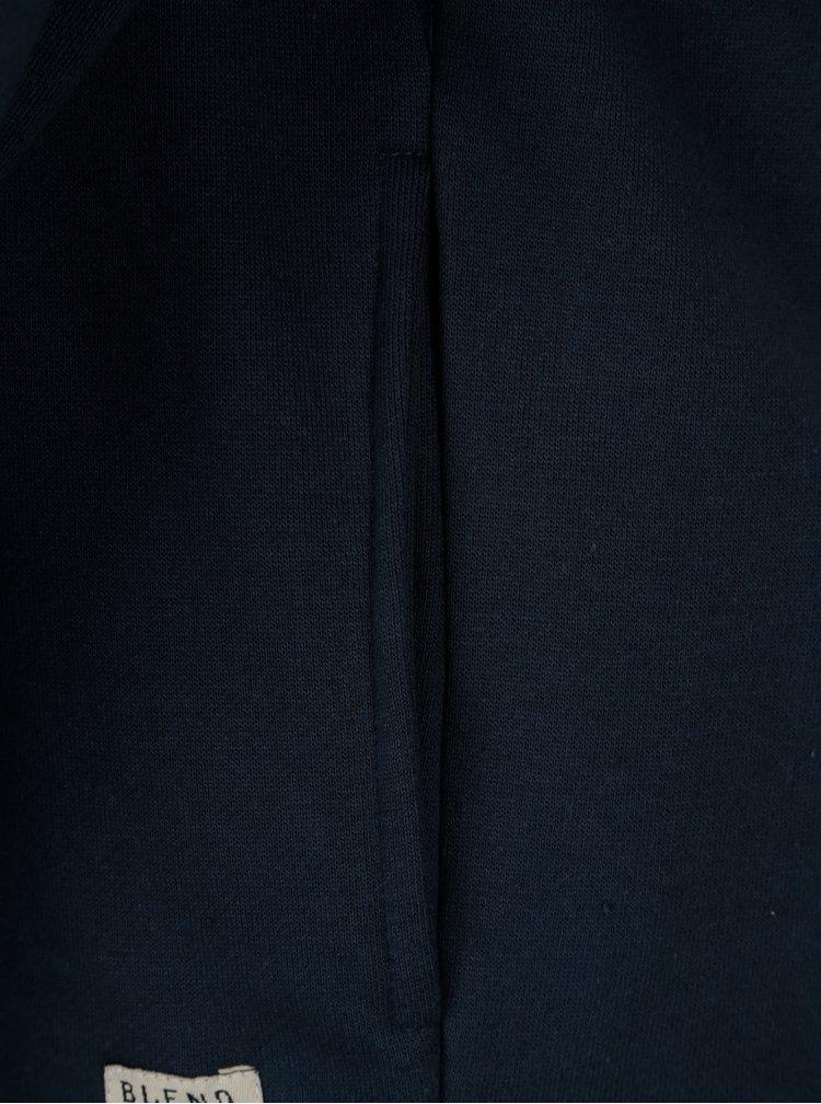 Tmavě modrá mikina s kapucí Blend