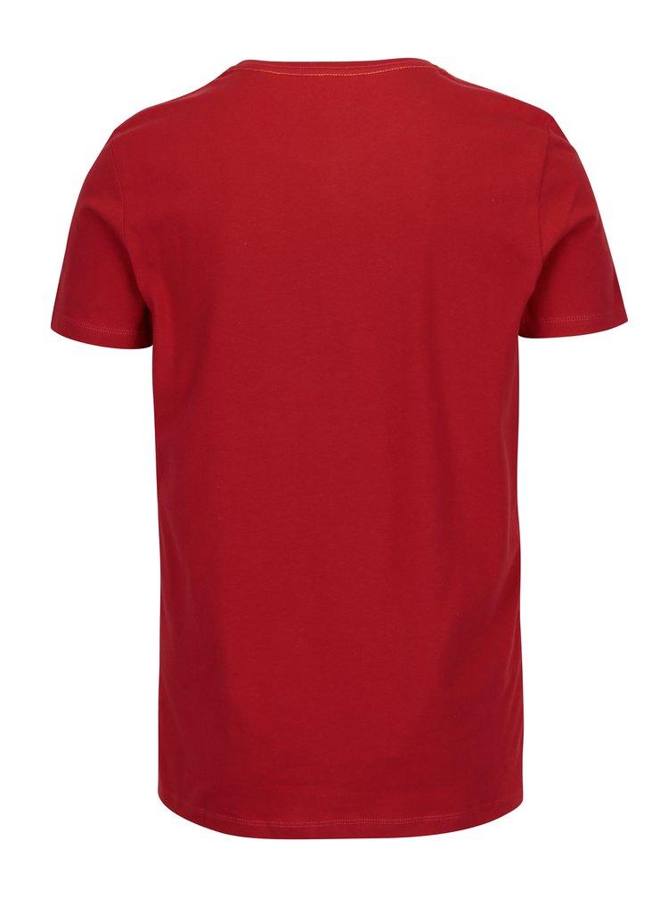 Tricou rosu cu print Coca Cola -  Blend