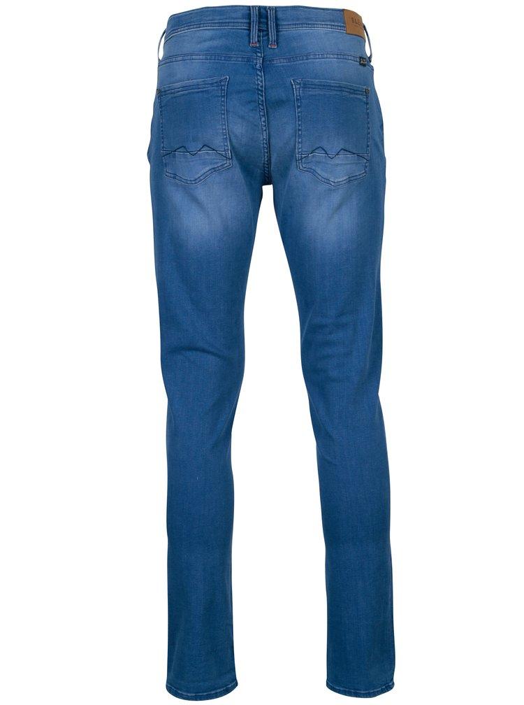 Blugi skinny albastri cu aspect prespalat si buzunare - Blend
