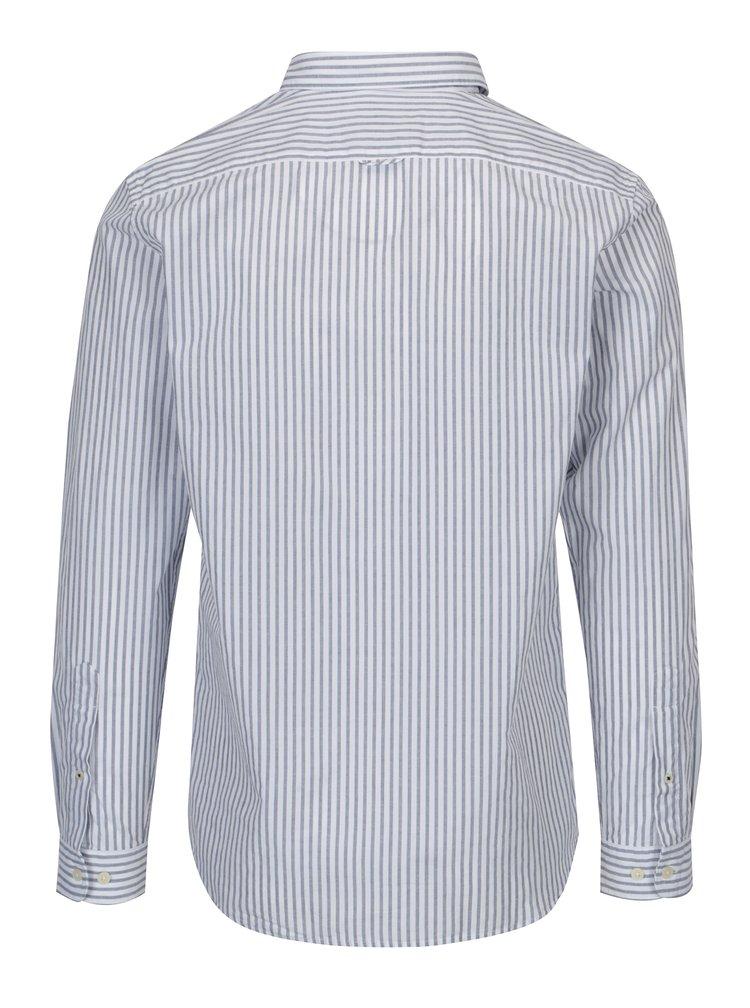 Modro-bílá pruhovaná slim fit košile Selected Homme One Louis