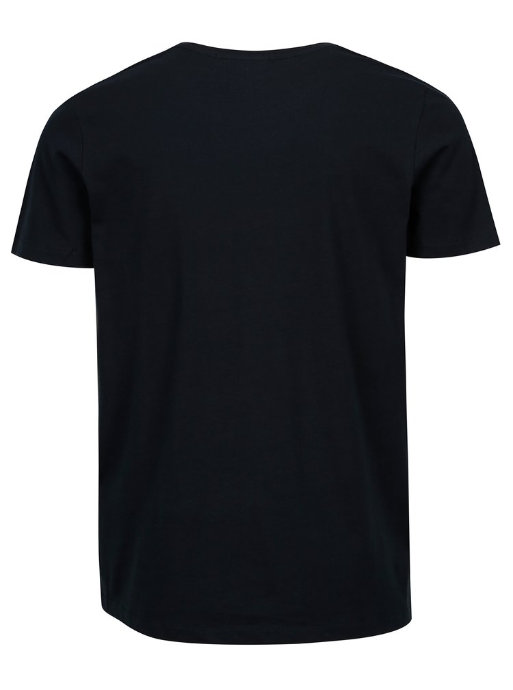 Tmavě modré tričko s krátkým rukávem Selected Homme Movo