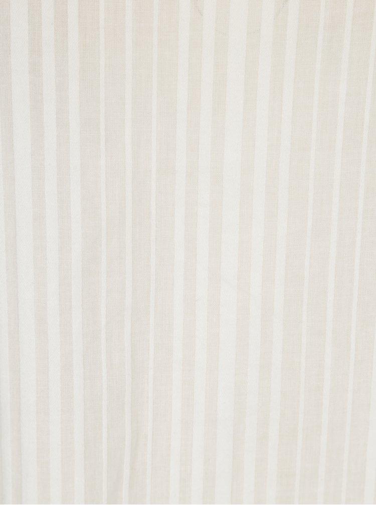 Bílá halenka s jemným vzorem Selected Femme Luellek