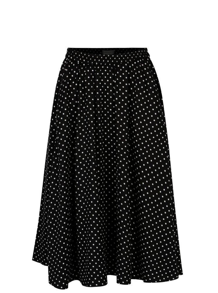 Černá puntíkovaná sukně s kapsami Selected Femme Millado