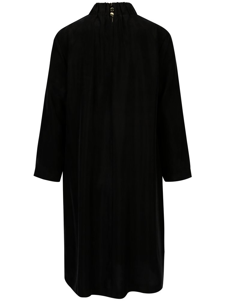 Rochie tunica neagra cu guler si maneci lungi - Selected Femme Gracy