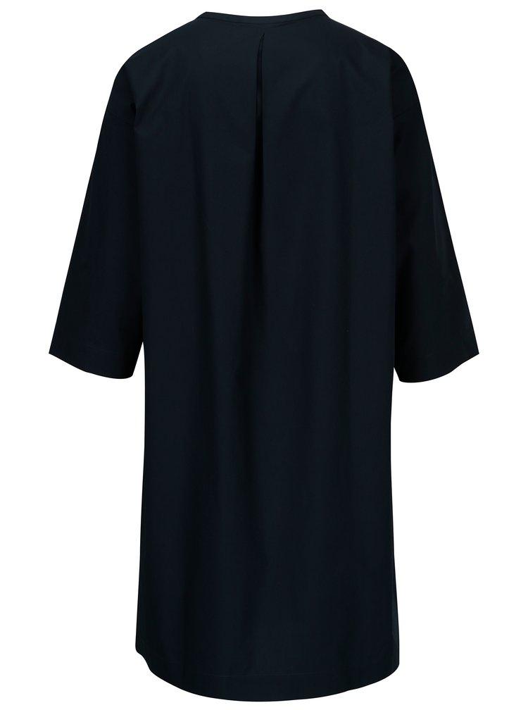 Tmavě modré šaty s 3/4 rukávem Selected Femme Aman