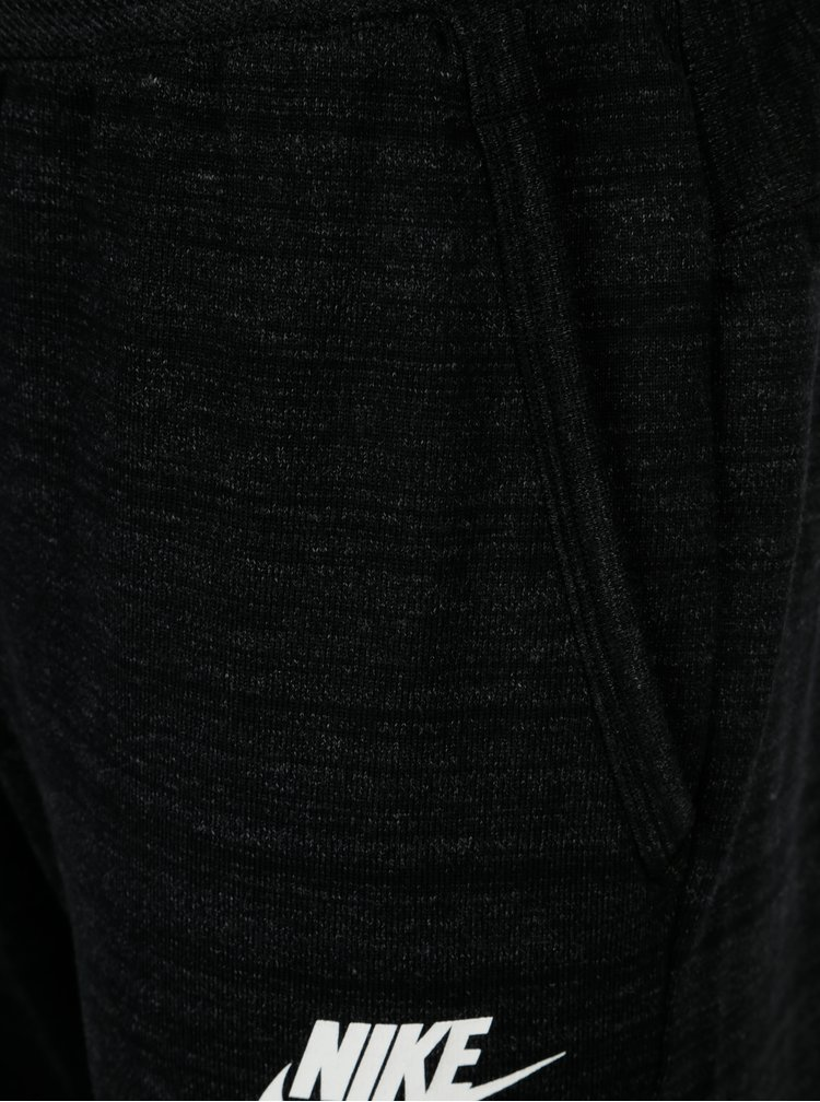 Tmavě šedé pánské žíhané standard fit tepláky Nike