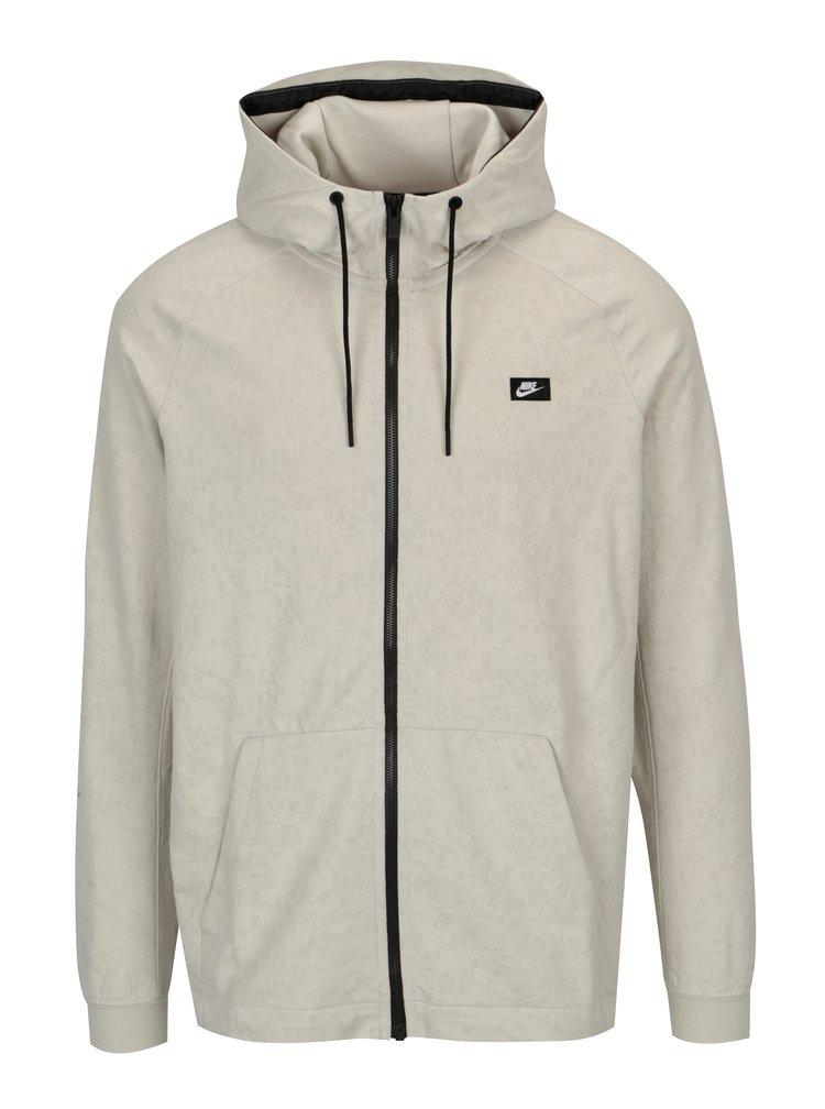Krémová pánská mikina s kapucí Nike