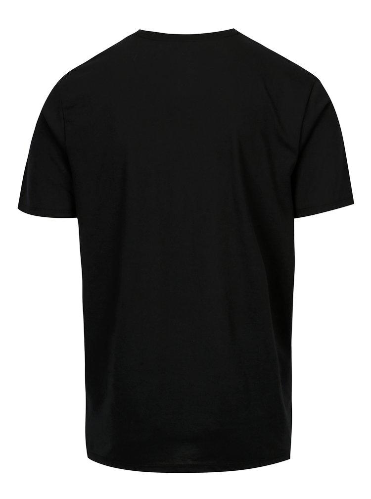 Černé pánské funkční tričko s šedým potiskem Nike