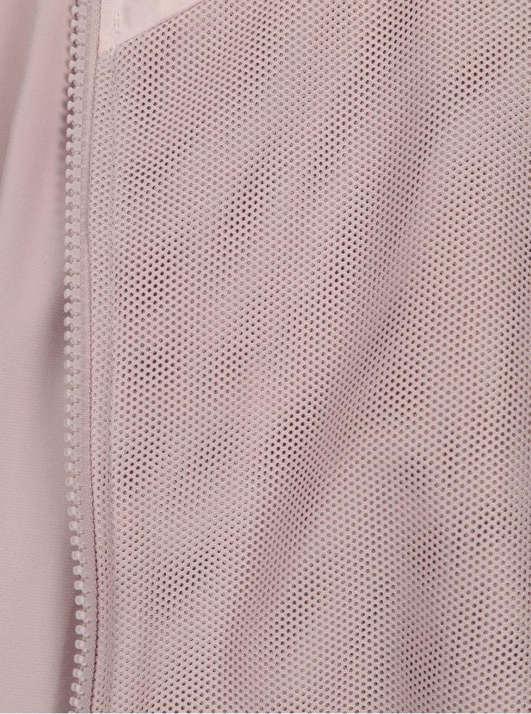 Starorůžová dámská šusťáková bunda s kapucí Nike