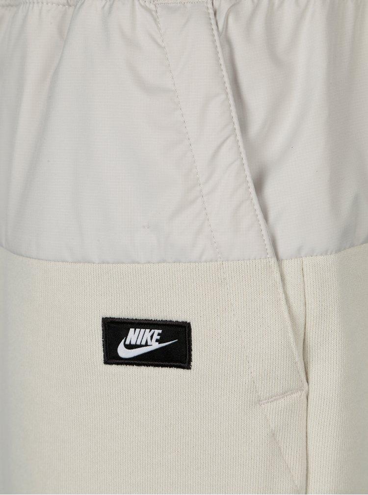 Krémové pánské kraťasy s pružným pasem Nike