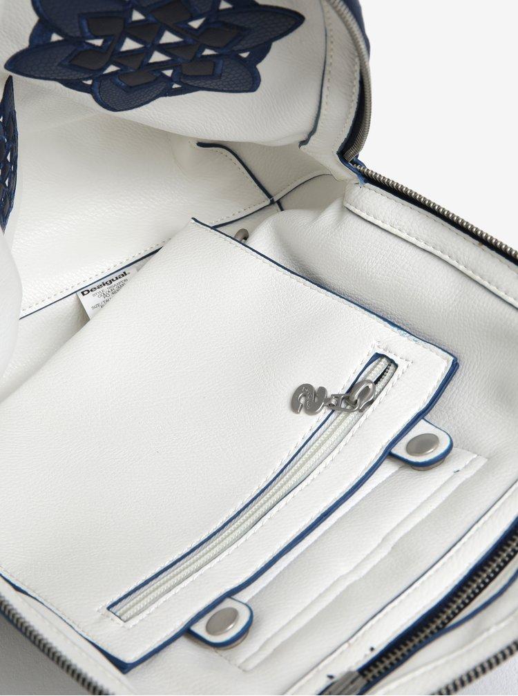 Modro-krémový oboustranný batoh s výšivkou Desigual Trip Madeira