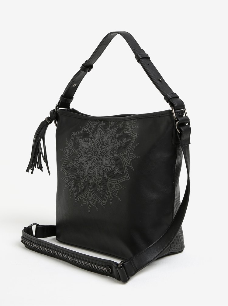 Černá crossbody kabelka Desigual Anonymous