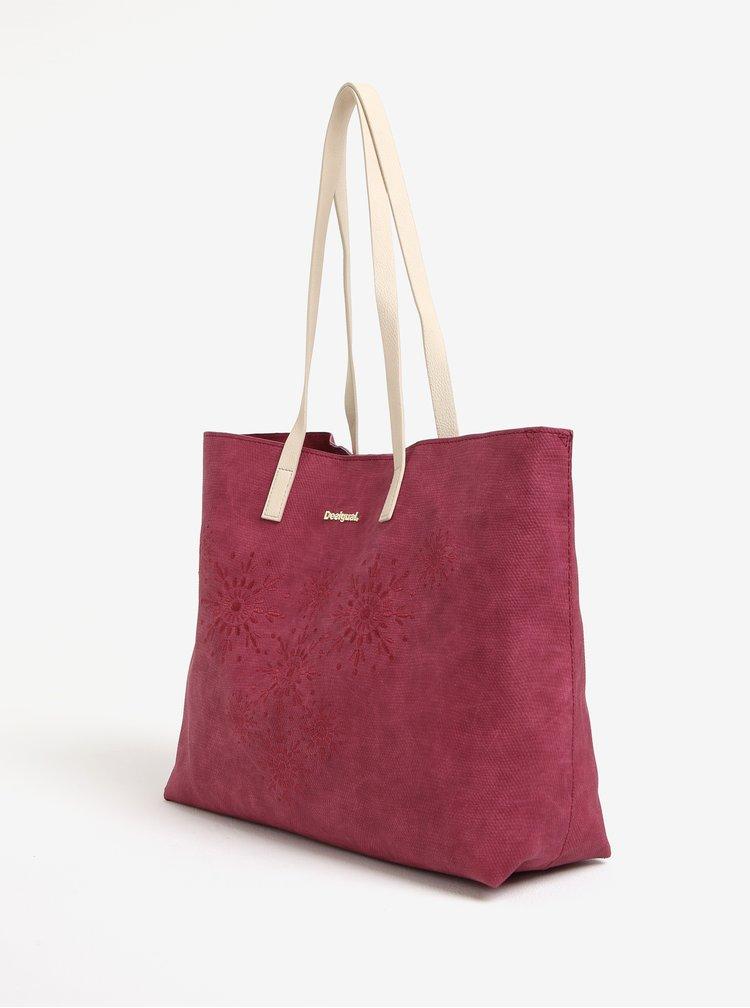 Tmavě růžový shopper s kabelkou 2v1 Desigual Caliope
