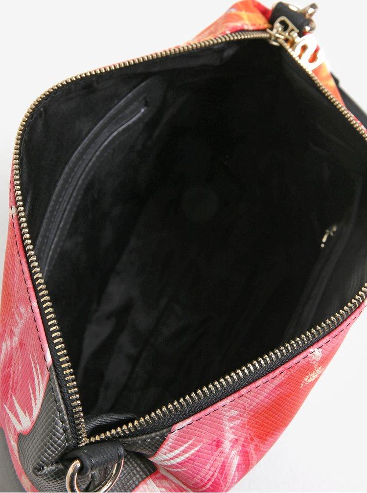 Černo-růžový oboustranný shopper s crossbody kabelkou 2v1 Desigual Corel Seattle