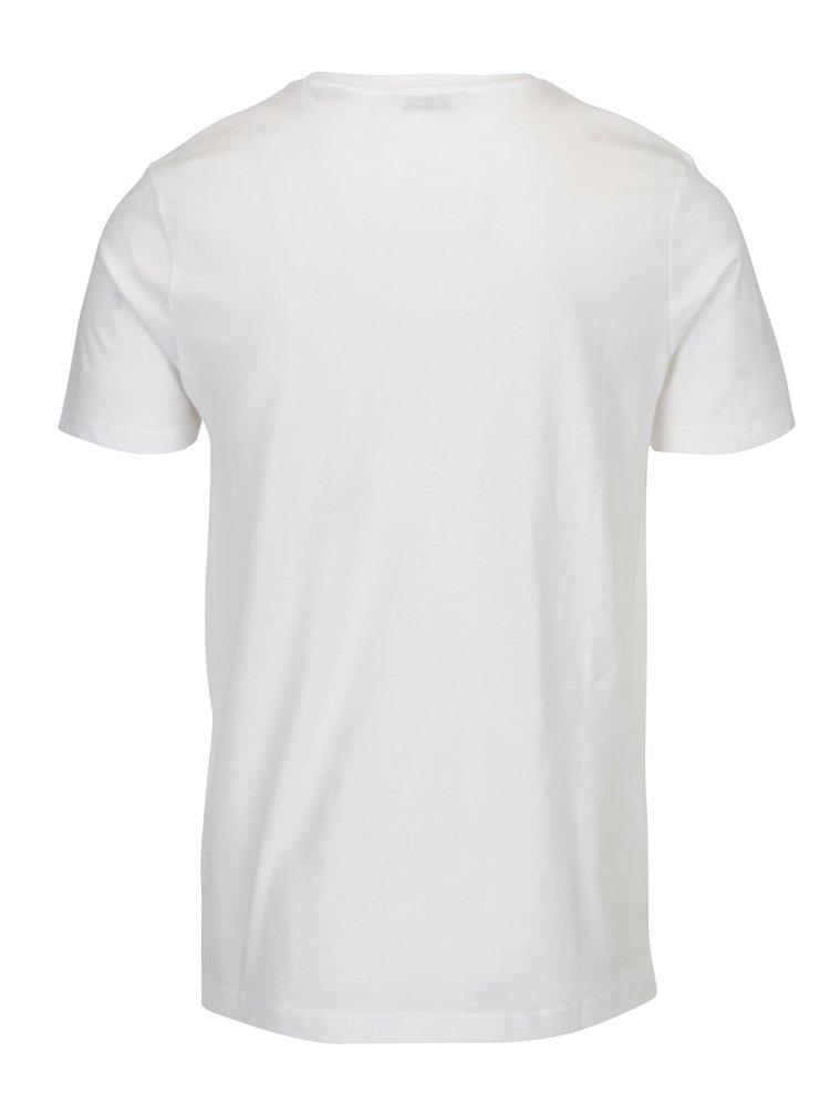 Bílé tričko s potiskem ONLY & SONS Stuart