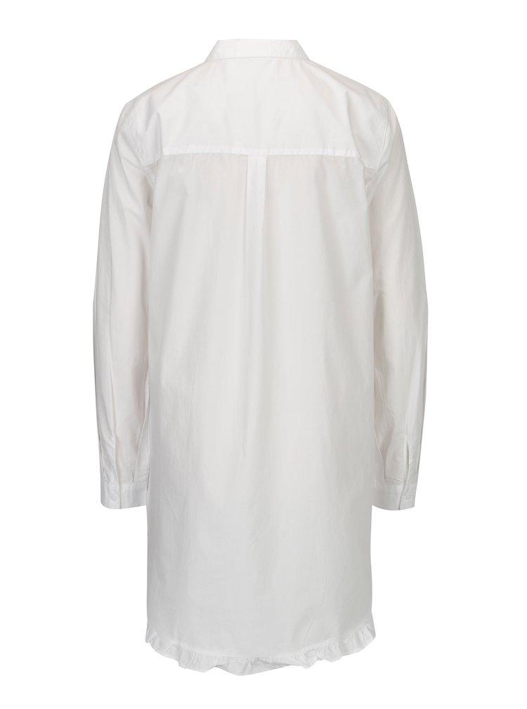 Bílá dlouhá áčková košile ONLY Monique